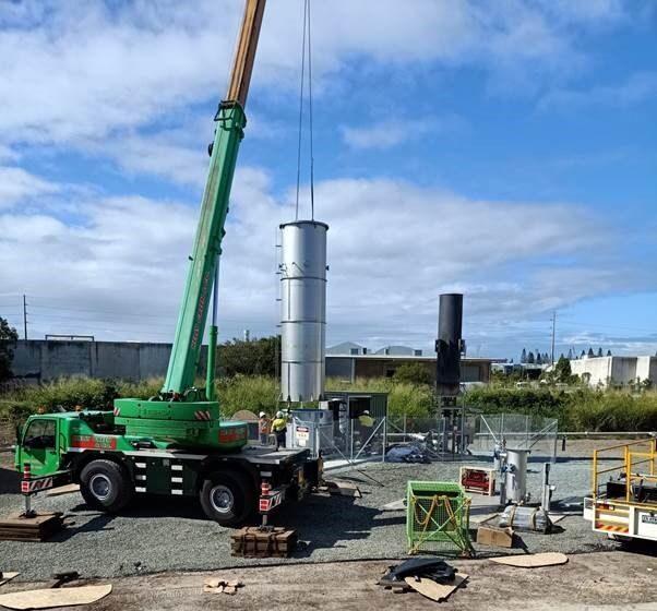 Biogas Flare build